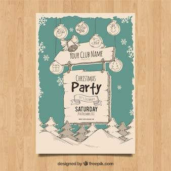 Poster de natal divertido com canção de publicação