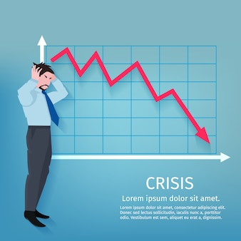 Poster de negócios de falha
