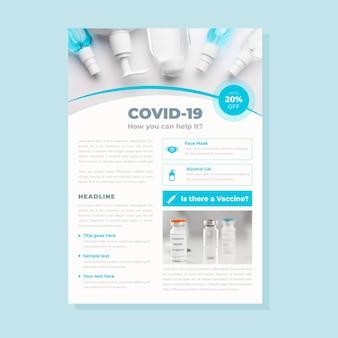 Pôster de produtos médicos do coronavirus com foto