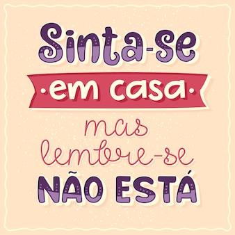Pôster de quadrinhos em português brasileiro tradução faça o seu duende em casa, mas lembre-se de que você não é