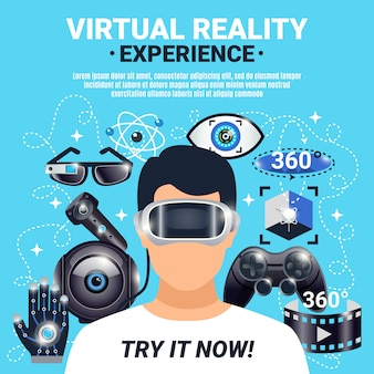 Poster de realidade virtual