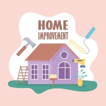 Pôster de reforma da casa