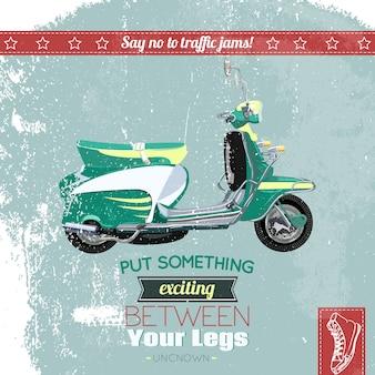 Poster de scooter de hipster