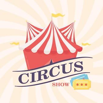 Pôster de show de circo