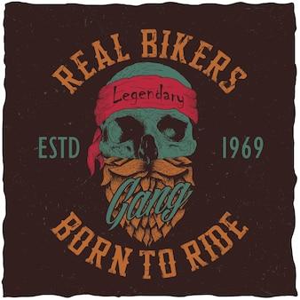 Pôster de verdadeiros motociclistas