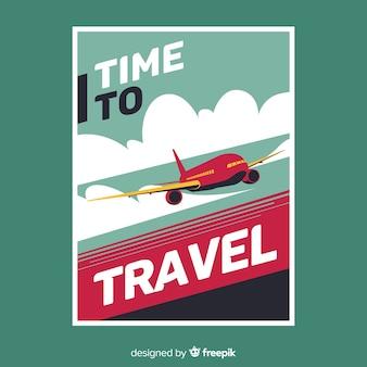 Poster de viagem vintage plana