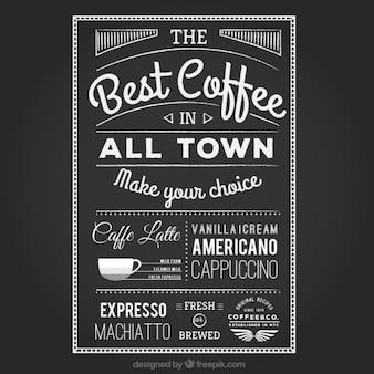 Poster do café escrita à mão
