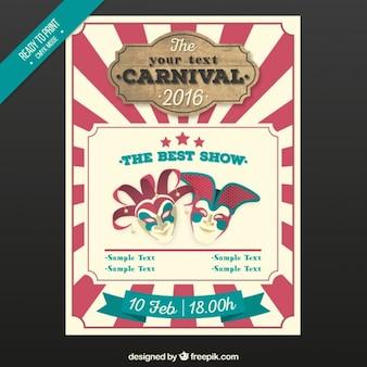 Poster do carnaval do vintage