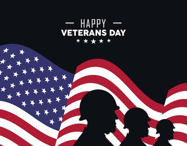 Pôster do dia dos veteranos