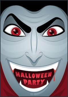 Pôster do drácula. sr. vampiro. pôster de halloween. cartaz de cartão de halloween. ilustração vetorial.