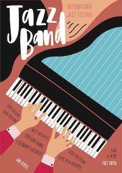 Pôster do festival internacional de jazz