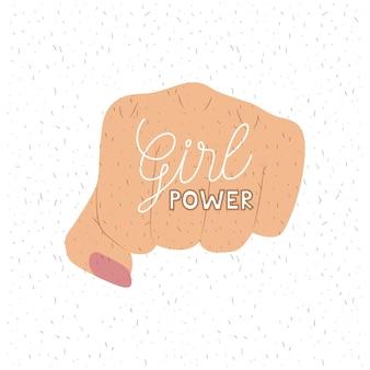 Poster do texto do poder da menina