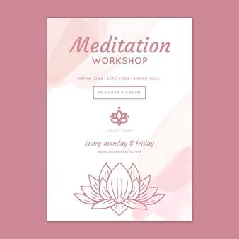 Pôster do workshop de meditação