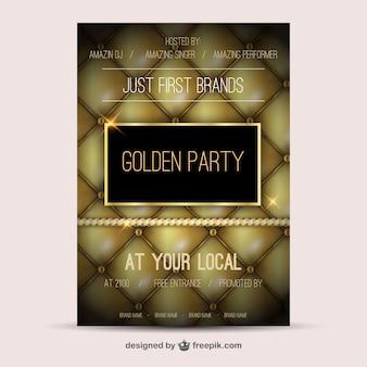 Poster dourada do partido