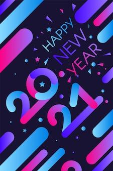 Pôster elegante de feliz ano novo