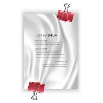 Pôster em formato a4 com seda ou cetim branco elegante e suave pode usar como plano de fundo do casamento