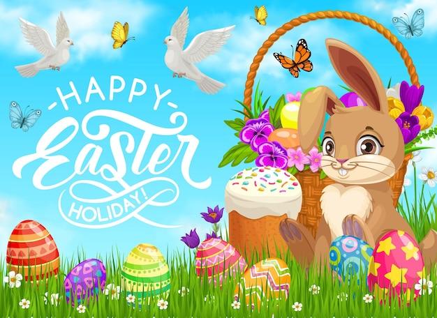 Poster feliz feriado de páscoa