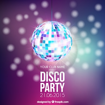 Poster festa disco