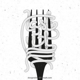 Poster fork no estilo retro