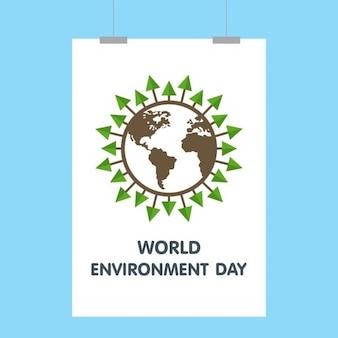 Poster globo do dia mundial do meio ambiente