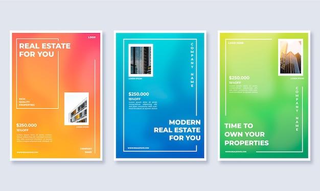 Pôster gradiente de imóveis com foto