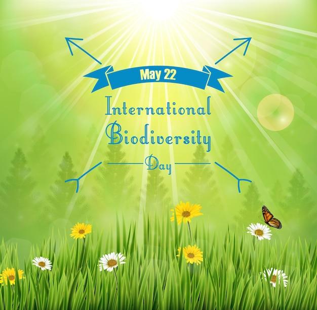 Pôster internacional da biodiversidade