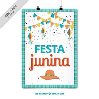Poster junina festa bonito