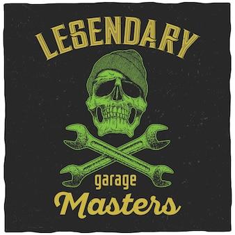 Pôster lendário do garage masters
