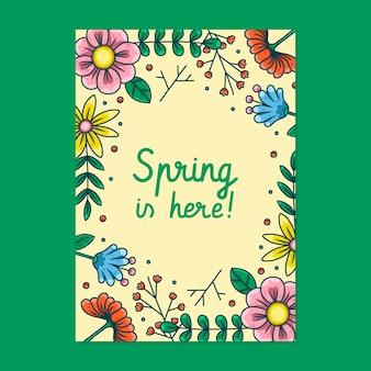Pôster lindo de festa de primavera