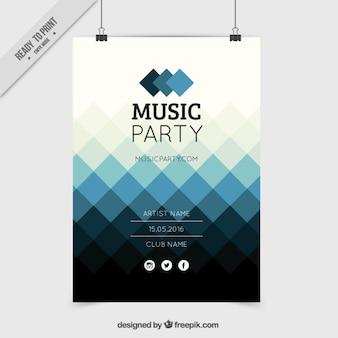 Poster losango azul