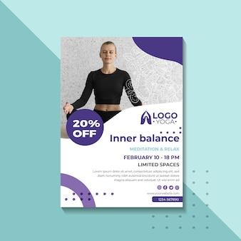 Pôster modelo de aula de ioga