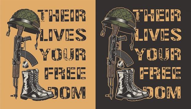 Pôster motivacional do exército