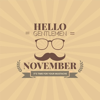 Poster movember cavalheiros
