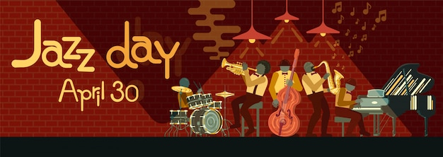 Poster no dia do jazz 30 de abril