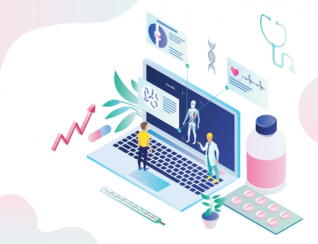 Poster online health diagnostics application