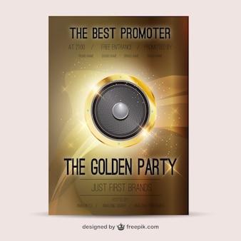 Poster orador de ouro