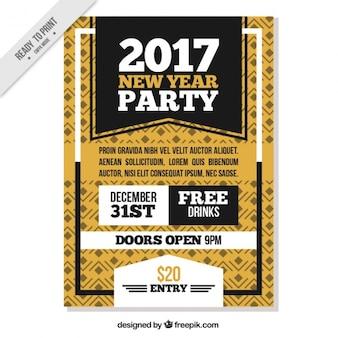 Poster ornamental de novo ano de 2017