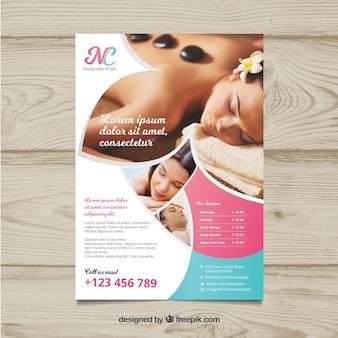 Poster para um centro de spa com uma foto