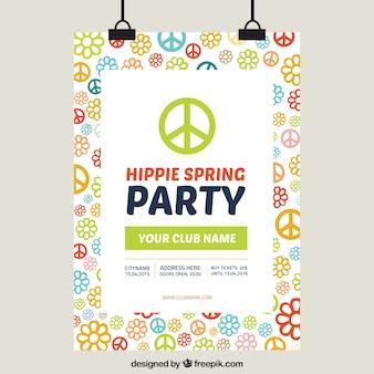 Poster partido da mola hippy