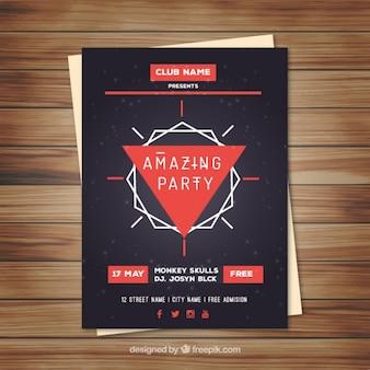 Poster poligonal para evento de música