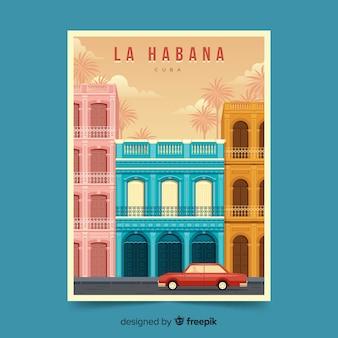 Poster promocional retrô de la habana