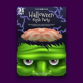 Pôster realista da festa de halloween
