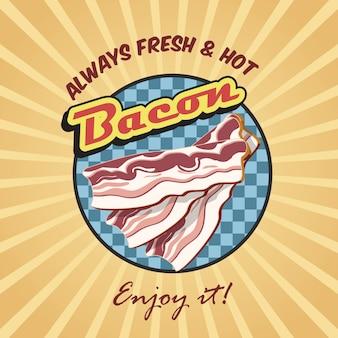 Poster retro de bacon