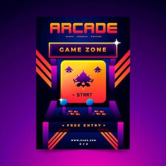 Poster retro de jogos
