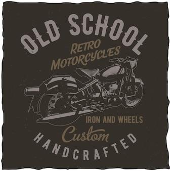 Pôster retrô de motocicletas