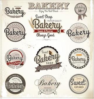 Poster retro de padaria