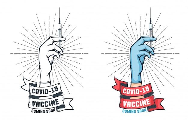 Poster retro de vacinação antiviral