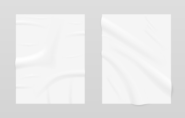Pôster vazio de onda de papel