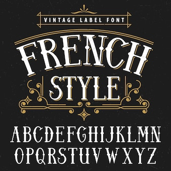 Poster vintage estilo francês bom para usar em qualquer ilustração estilo vintage