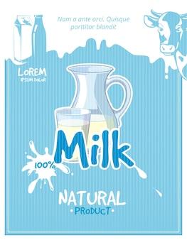 Poster vintage leite